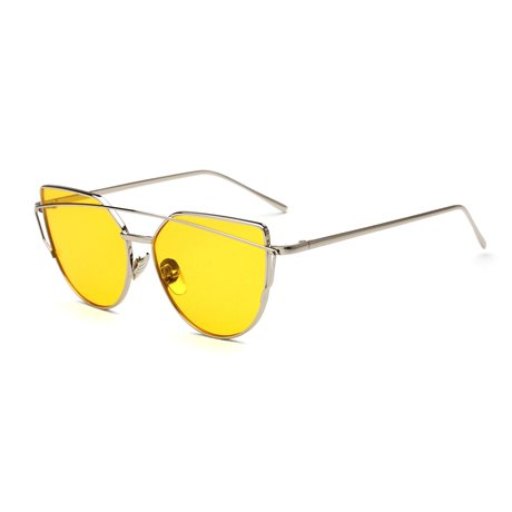 De Gafas Sol De Retro Hembra 12 Sobremedida KLXEB Mujer 13 Gato Ojo Reflejado De Gafas Sunglases SaqwUCC0