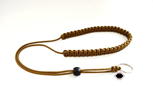 Outdoor Retractor - Rangefinder paracord lanyard sling COYOTE BROWN or custom color handmade in USA