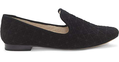 Vince Camuto Women's LIELEY Quilted Loafer Black Suede