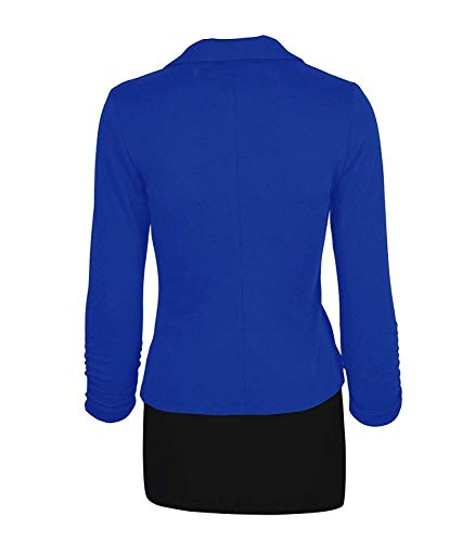 Fit Fashion Bavero Button Cappotto Royal Blau Lunga Blazer Da Donna Di Marca Giacche Autunno Con Giaccone Casuali Monocromo Business Tailleur Mode Giacca Manica Primaverile Slim Classiche WTWq1HP