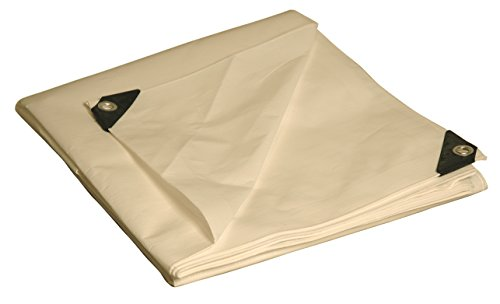 - 18x24 Multi-Purpose White Heavy Duty DRY TOP Poly Tarp (18'x24')