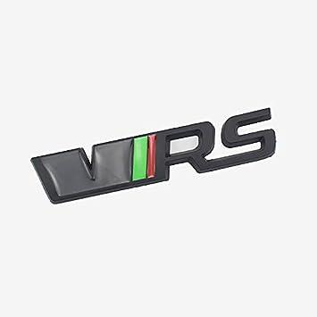 D28jd Vrs Logo Emblem Für Heckklappe Heckklappen Stamm Metallbuchstaben Aufkleber Für Skoda Schwarz Küche Haushalt