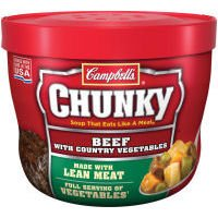 Campbell's Chunky Beef with Country Vegetables Microwavable Soup 15.25 ()