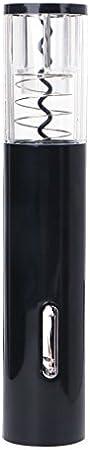 exing Funcional eléctrico (Sacacorchos Sacacorchos Botella de vino abridor Bottle Opener Vino Tope, aleación de aluminio + PC + ABS 23.x4.5cm negro