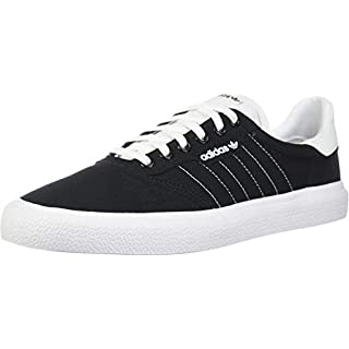 adidas Originals Men's 3MC Regular Fit Lifestyle Skate Inspired Sneakers Shoes, Black/White/Black, 4.5 M US