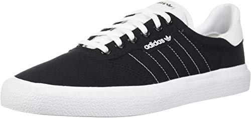 adidas Originals Men's 3MC Regular Fit Lifestyle Skate Inspired Sneakers Shoes, Black/White/Black, 4.5 M US