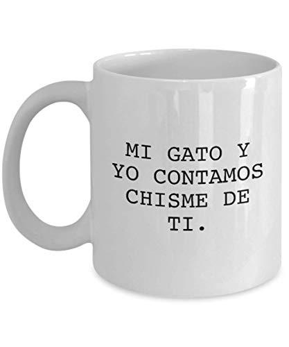 Amazon.com: TAZA GATO - ENVIO GRATIS! - COFFEE - TAZAS PARA CAFE CON FRASES PARA MUJER - VASO GRACIOSO - BASO - VASOS GRACIOSOS - REGALO ORIGINAL PARA MAMA: ...