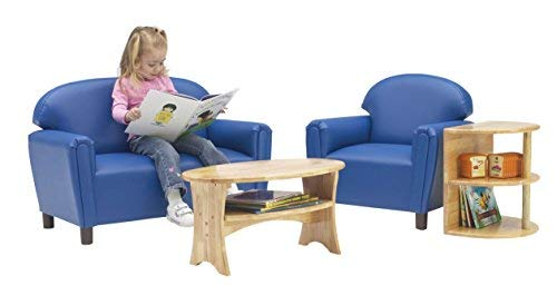 Blue Brand New World Furniture FPVB100 Brand New World Preschool Premium Vinyl Upholstery Sofa