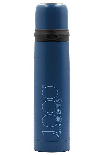 Laken 1L Azul Termo de Acero Inoxidable con Tapon-Vaso, Adultos Un
