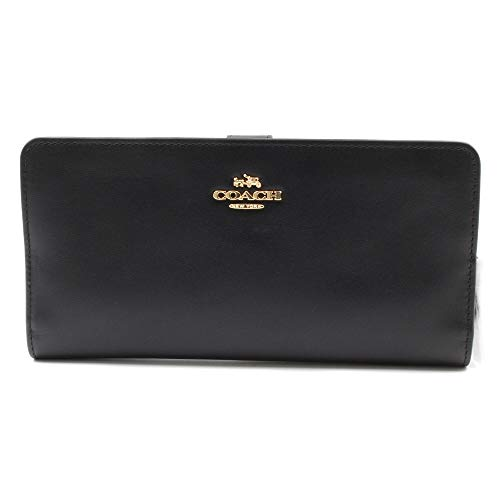 COACH Women's Smooth Leather Skinny Wallet Li/Black One Size