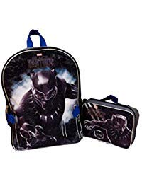 - Marvel Black Panther Full Size Backpack With Detachable Matching Insulated Lunch Box