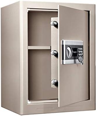 Caja Fuerte pequeña con Llave, Caja de Seguridad electrónica antirrobo de 50 cm con Puerta única, Gris Claro: Amazon.es: Hogar