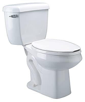 Zurn Z5562 ADA, Dual Flush, Elongated Pressure Assist, 1.6/1.0 gpf, Two-Piece Toilet