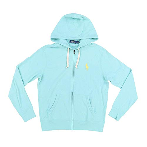 Polo Ralph Lauren Mens Terry Cloth Hoodie (L, Mint ()