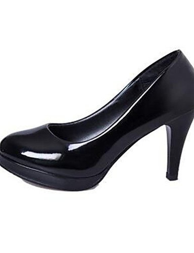 ZQ Zapatos de mujer-Tac¨®n Stiletto-Tacones-Tacones-Oficina y Trabajo / Vestido-Semicuero-Negro , black-us8.5 / eu39 / uk6.5 / cn40 , black-us8.5 / eu39 / uk6.5 / cn40 black-us5.5 / eu36 / uk3.5 / cn35