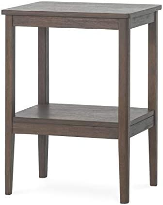 Forever Eclectic Folio Rectangular Wood End Table