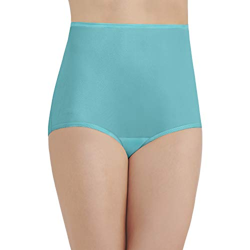 (Vanity Fair Women's Perfectly Yours Ravissant Tailored Brief Panty 15712, Rainforest Aqua, X-Large/8)