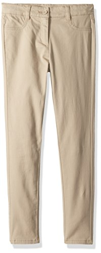 Nautica Big Girls' Twill Pant, Khaki/Five Pocket, 16 by Nautica