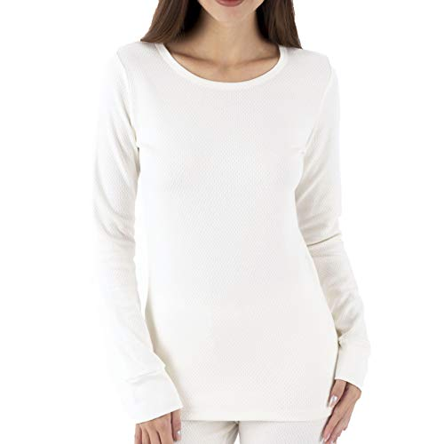 Cottonique Hypoallergenic Womens Thermal Long Sleeve Made from 100% Organic Cotton