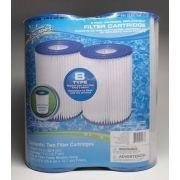 Summer Escapes B Cartridges, Two Pack of Swimming Pool Filters. Patented Cartridge Filter with Built-in Chlorinator.