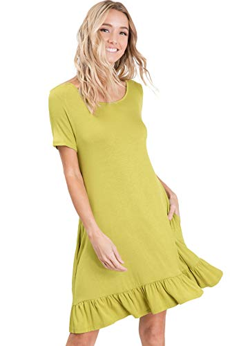 - Annabelle Solid Spring Dresses for Women Grass Large D5420