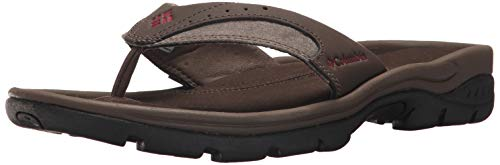 Columbia Men's Tango Thong III Sandal, Cordovan, red Element, 7 Regular US