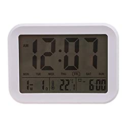 WTGJYYXX HOT-Digital Alarm Clock,Talking Clock with 3 Alarms 7 Sounds Optional Weekday Alarm, Intelligent Noctilucent & Snooze Function