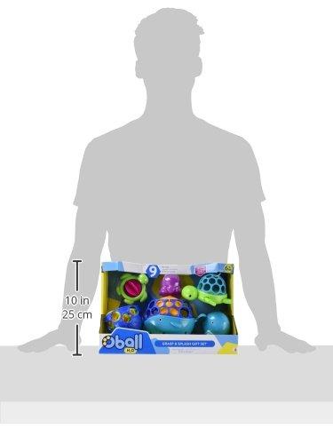 Oball Geschenkset Badespielzeug bestehend aus 9 Leicht zu Greifenden Spielsachen Perfekt f/ür Kleine Finger