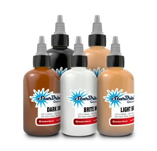 Starbrite Tattoo Ink Skin Tone Set of 5 0.5 Ounce (Best Tattoo Colors For Brown Skin)