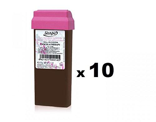 10 uds. Cera Roll On Cacao Chocolaterapia- Pack 10 unidades- Corporal - Recambio Cera Depilatoria Profesional Starpil: Amazon.es: Salud y cuidado personal