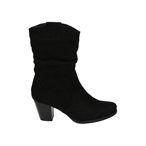 Damen Stiefeletten Cowboy Western Stiefel Boots Schlupfstiefel Blockabsatz Schuhe 65 Schwarz 2