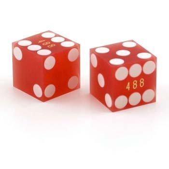 SAND FINISHED PRECISION CASINO DICE W/RAZOR (Casino Dice Red Stick)