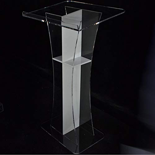 IntBuying Acrylic Church Podium Clear Pulpit Office Furniture Stand (Acrylic Church Furniture)
