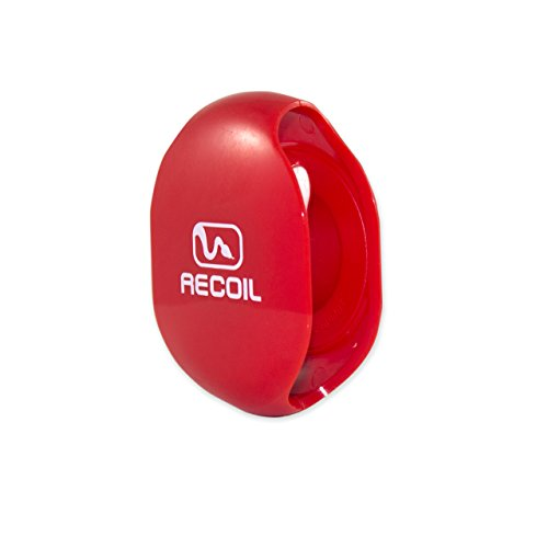 Recoil AUTOMATIC Cord Winder for USB Cables, Phone, Tablet and Reader Chargers, Sync Cables and Other Cords. No More Tangled Cords! The Original Retractable Cord Organizer. Red, Size Large