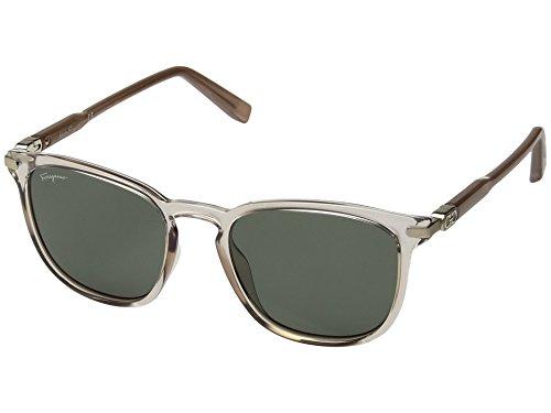 Salvatore Ferragamo  Men's SF881SM Champagne/Solid Green One - Ferragamo Designer Salvatore Sunglasses