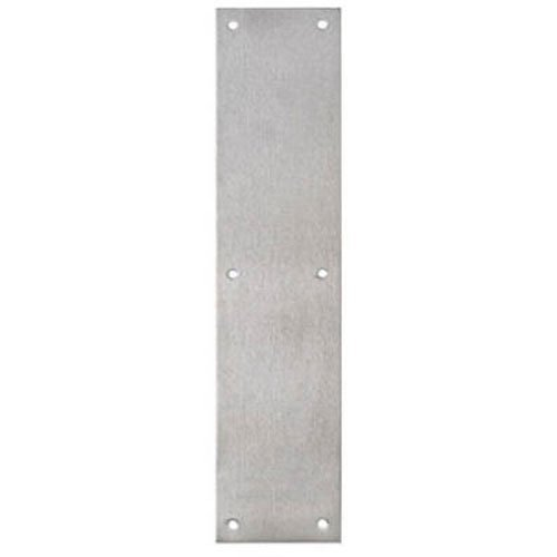 Tell Manufacturing DT100072 Push Plate, Satin Stainless Steel, 3.5'' x 15''