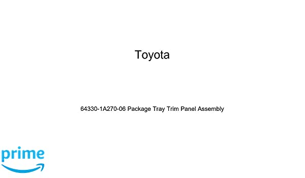 Toyota Genuine 64330-1A270-06 Package Tray Trim Panel Assembly