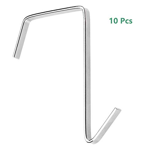 10 Pack Over The Door Hook Cubical Hooks for Hanging Pocket Chart Clothes Towels Utensils Stainless Steel Door Hangers