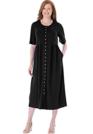 Only Necessities Women\'s Plus Size Empire Knit Dress at Amazon ...
