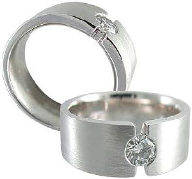 Anillo para hombre de platino macizo 950, diamante real ...