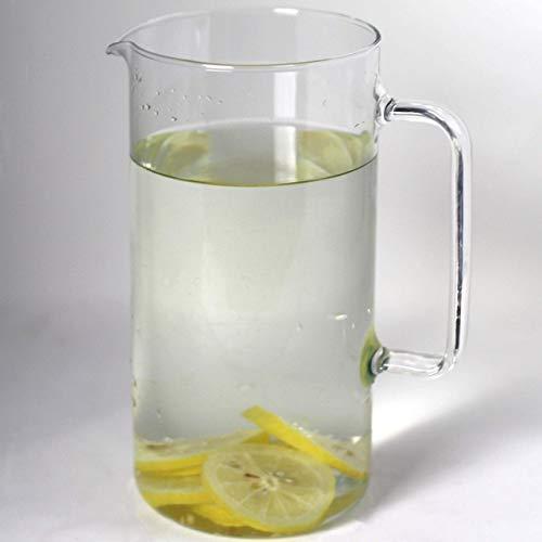 Simax Glassware Clear Glass Pitcher | For Cold Beverages, Dishwasher Safe, Cylinder Design, 1 Quart Capacity