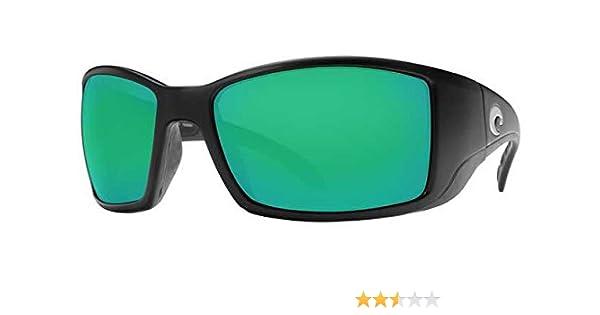 d80e75fc23 Amazon.com  Costa Del Mar Blackfin 580G Polarized Sunglasses in Black    Green Mirror Lens  Clothing
