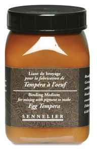 - Sennelier Artist Dry Pigment Medium Egg Tempera Binder 200 ml Jar