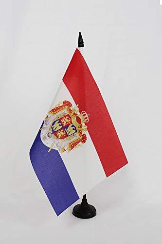 AZ FLAG Bandiera da Tavolo Regno di Olanda 1806 –  1810 21 x 14 cm –  Piccolo Bandiere di Ufficio Olandesi di Napoleone 14 x 21 cm