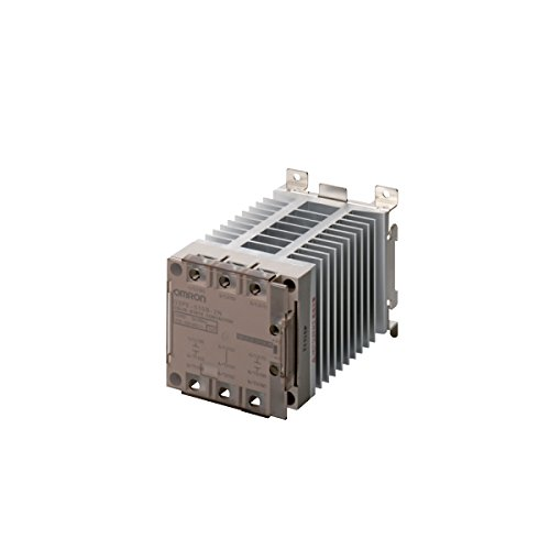 Omron G3PE-225B-3N DC12-24 Solid State Relay for Heaters, Zero Cross Function, Yellow Indicator, Phototriac Coupler Isolation, Triple-Phase, DIN Track Mounting, 3 Poles, 25 A Rated Load Current, 100 to 240 VAC Rated Load Voltage, 12 to 24 VDC Input Voltage