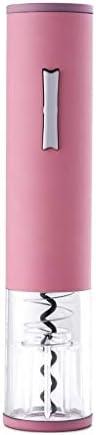 Sacacorchos de Camareros Botella del sacacorchos eléctrico sin cuerda automática abridor de botellas de vino de acero inoxidable abridor de cortador de papel de aluminio con luz (rosa) Abridor de Bote