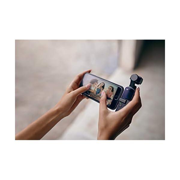 DJI Osmo Pocket - Stabilizzatore 3 Assi con Videocamera 4K Integrata, Risoluzione fino a 4K, 60 fps e Foto da 12 MP, Nero 4 spesavip