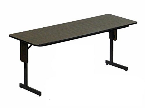 Rectangular Table Oak Folding - Correll SP1872PX-06 8 Pack High Pressure Laminate Classroom, Training or Seminar Table with Folding Panel Leg, Rectangular, 18