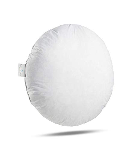 ComfyDown 95% Feather 5% Down, 32 inch Diameter Round Decorative Pillow Insert, Sham Stuffer - Made in USA by ComfyDown