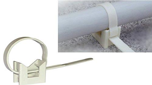 FASCETTE NYLON CON BASE PER TUBI DIAMETRO 16-32 CONFEZIONE DA 100 PEZZI ELEMATIC - ITW CONSTRUCTION